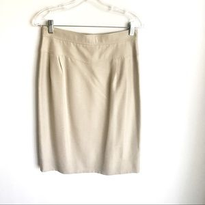 CHANEL Jackets & Coats - Chanel Jacket and Skirt Set Beige Silky Fabric